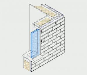 Isometric of window with cavity