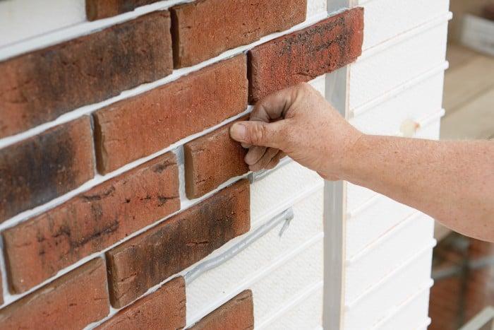 Brick slip cladding system