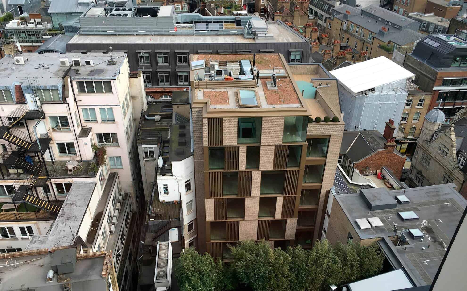 Wardour Street Multistorey brick slip cladding