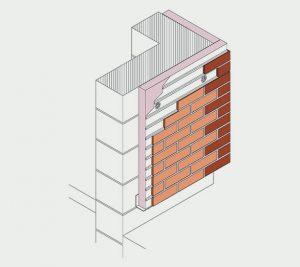 Isometric- Fixed to masonry