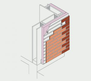 Isometric- Fixed to timber frame no cavity
