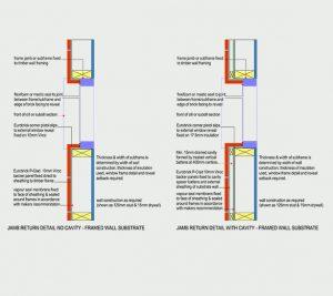Jamb detail recess fixed frame