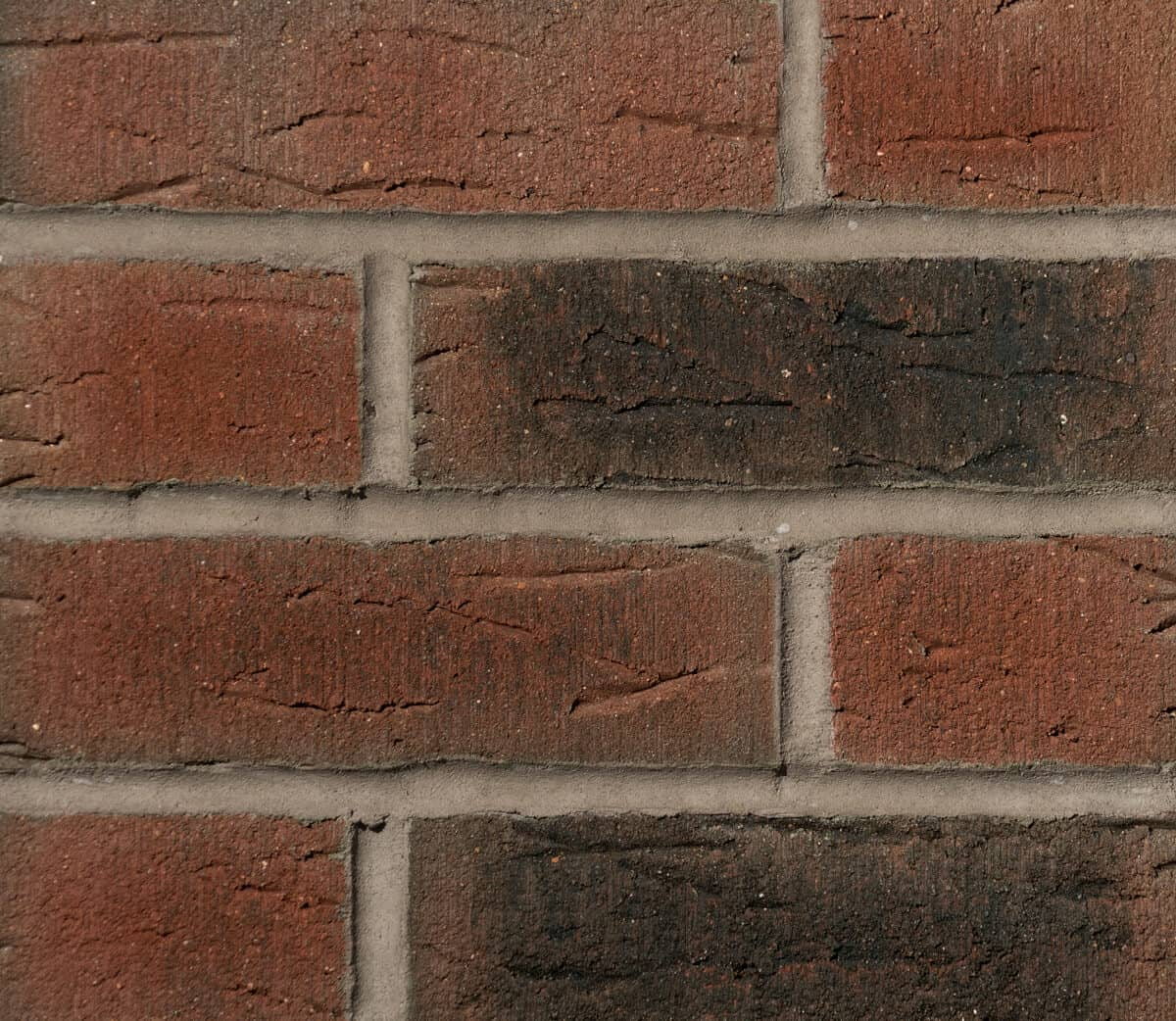 Rustic Red Charcoal Multi 685 Brick Slips